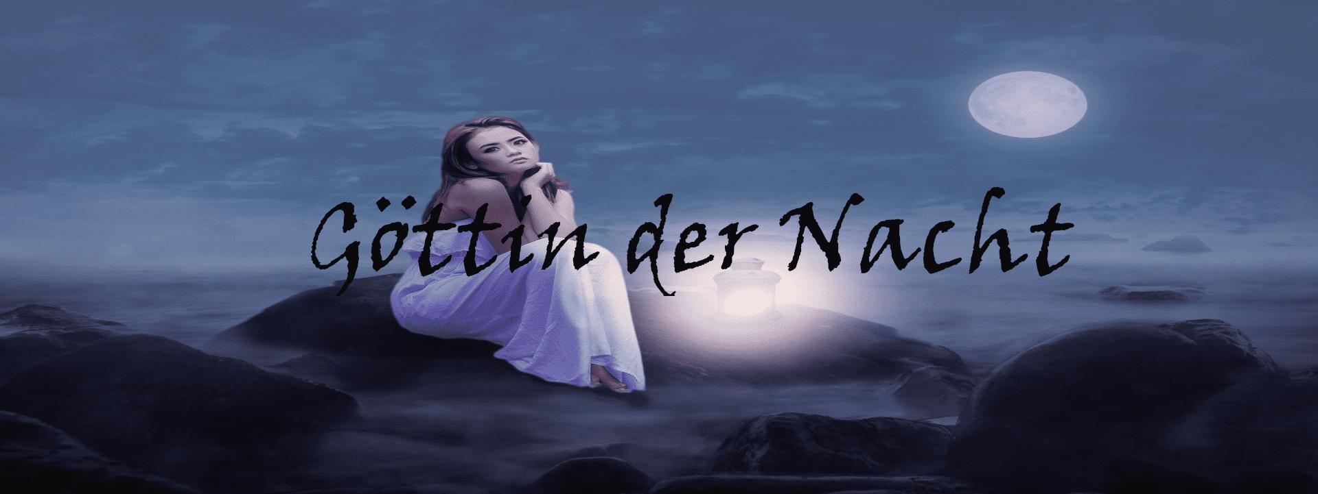 Gedichtbanner Göttin der Nacht