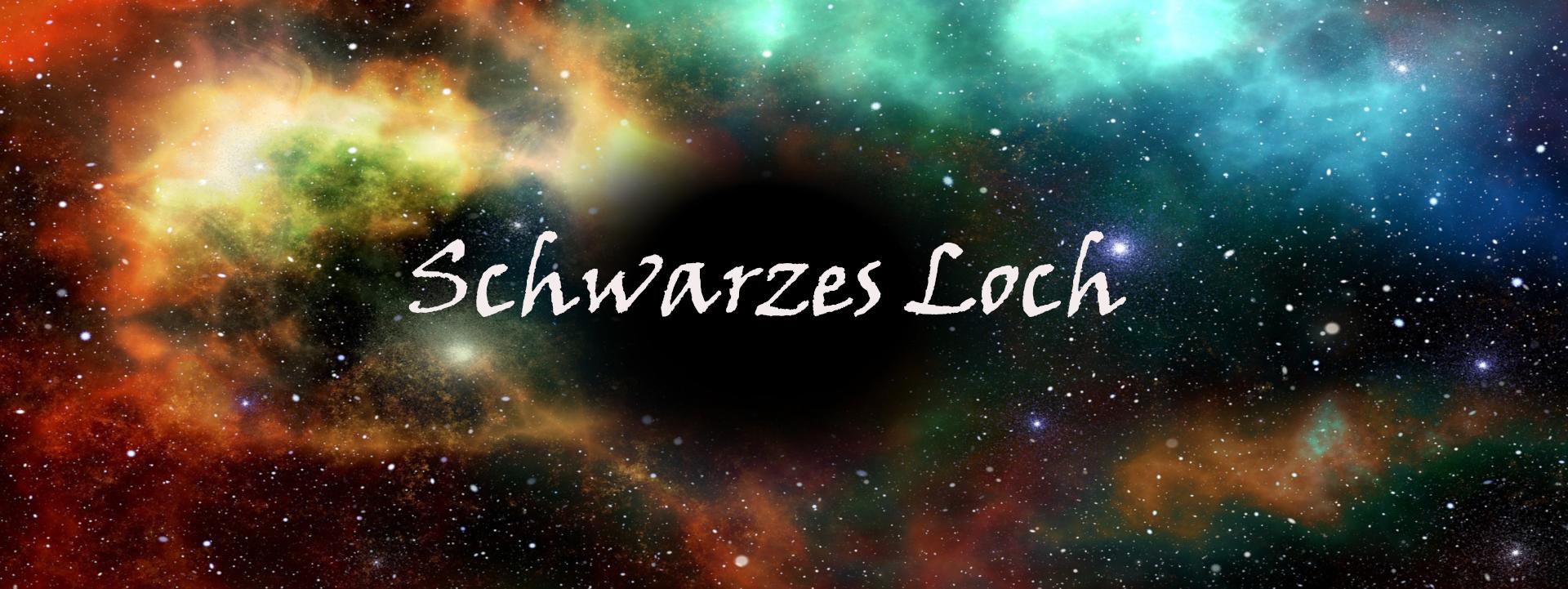 Gedichtbanner Schwarzes Loch